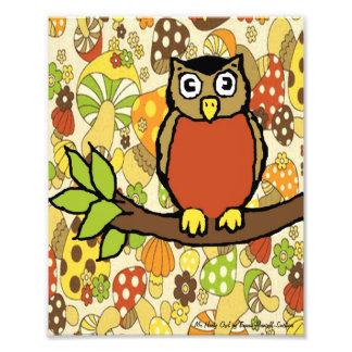 M. Hooty Owl Baby Wall Druk Fotoafdruk