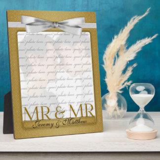 M. & M. Gay Wedding Photo Frame in Goud Fotoplaat