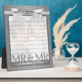 M. & M. Gay Wedding Photo Frame in Zilver Fotoplaat