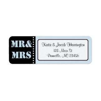 M. & Mevr. Black en het Blauwe Adresetiket van de Etiket