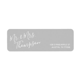 M. & Mevr. | het elke dag Moderne | Grijze Adres Etiket