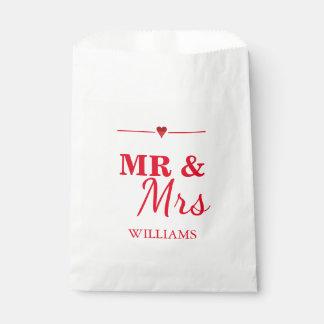 M. & Mevr. Wedding Bedankzakje