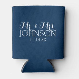 M. & Mevr. Wedding Favor Solid Marineblauw Color Blikjeskoeler