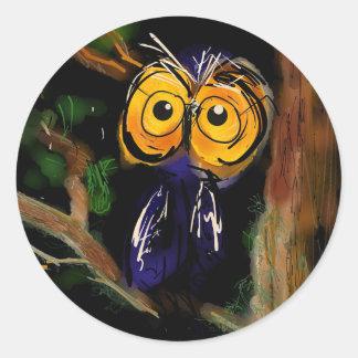 M. Owl Ronde Sticker