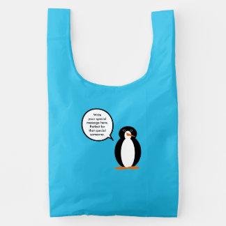 M. Penguin Birthday Suit Herbruikbare Tas