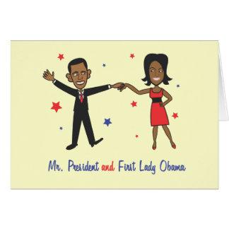 M. President en Presidentsvrouw Obama Kaart