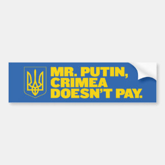 M. Putin, de Krim betaalt bumper geen sticker
