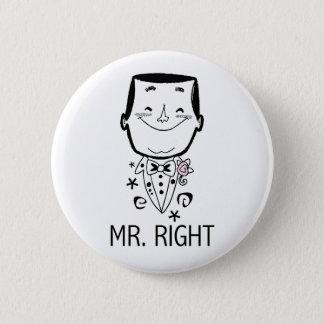 M. Right T-shirts en Giften Ronde Button 5,7 Cm