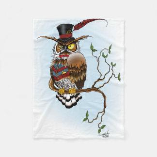 M. Steam Owl Fleece Deken