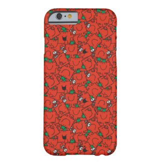 M. Strong   het Opheffende Rode & Groene Patroon Barely There iPhone 6 Hoesje