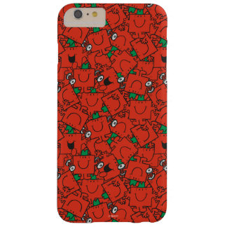 M. Strong   het Opheffende Rode & Groene Patroon Barely There iPhone 6 Plus Hoesje