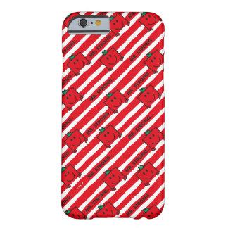 M. Strong   het Rode Patroon van Strepen Barely There iPhone 6 Hoesje