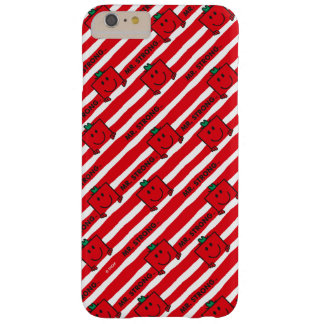 M. Strong   het Rode Patroon van Strepen Barely There iPhone 6 Plus Hoesje
