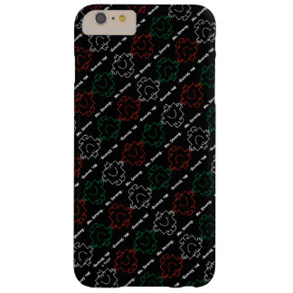 M. Strong   Rood, Wit & Groen Patroon Barely There iPhone 6 Plus Hoesje