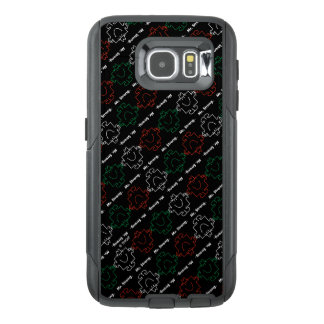 M. Strong | Rood, Wit & Groen Patroon OtterBox Samsung Galaxy S6 Hoesje