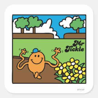 M. Tickle | OpenluchtPret Vierkante Sticker