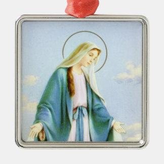 Maagdelijke Mary Crescent Moon Ornament