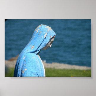 Maagdelijke Mary die de Atlantische Oceaan overzie Poster