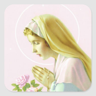 Maagdelijke Mary Prayer Sticker