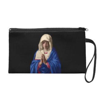 Maagdelijke Mary Wristlet Clutch Purse Tasje Met Polsbandje