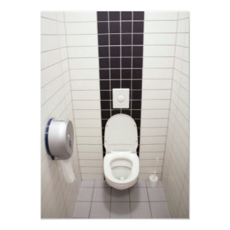 Maak Betegelde Badkamers schoon 12,7x17,8 Uitnodiging Kaart