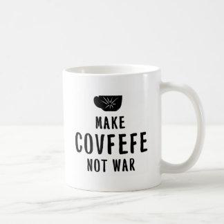 maak covfefe niet oorlog koffiemok