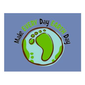 Maak de Dagelijkse Dag van de Aarde Briefkaart
