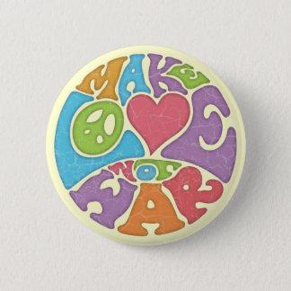 Maak de Oorlog van de Liefde niet Ronde Button 5,7 Cm