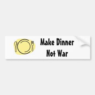 Maak de Oorlog van het Diner niet! Bumpersticker