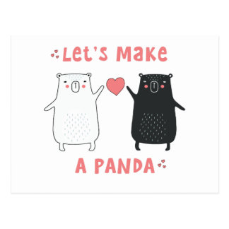 maak een panda briefkaart