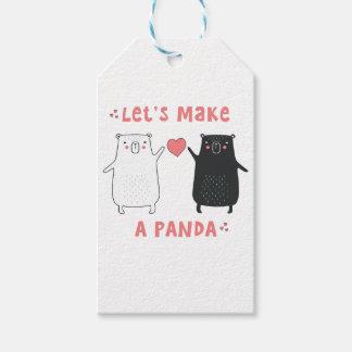 maak een panda cadeaulabel