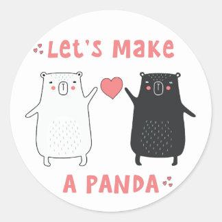 maak een panda ronde sticker