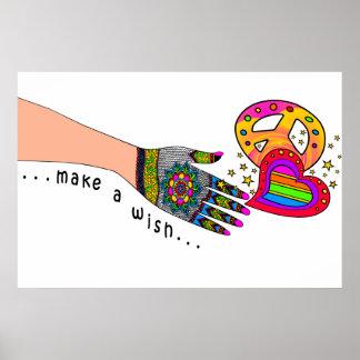 Maak een Wens voor Vrede en Liefde Poster
