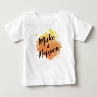 Maak het gebeuren baby t shirts