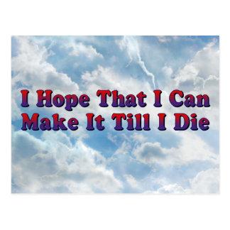Maak het tot ik - Briefkaart sterf