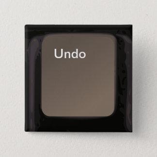 Maak Knoop/Sleutel ongedaan Vierkante Button 5,1 Cm
