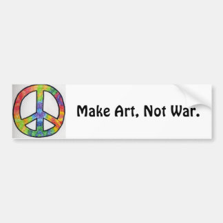 Maak Kunst, niet Oorlog. - vredesteken Bumpersticker