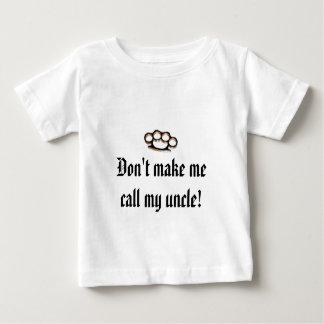 Maak me niet mijn oom roepen! baby t shirts