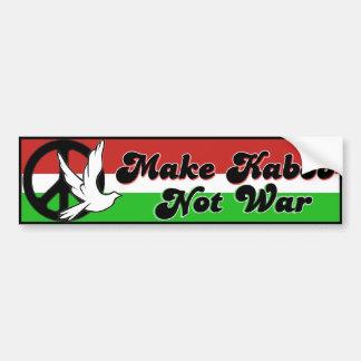 Maak niet de bumpersticker van de Oorlog Kabob