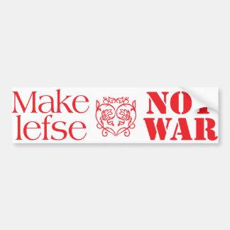 Maak niet Oorlog Lefse Bumpersticker