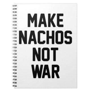 Maak niet Oorlog Nachos Notitieboek