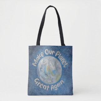 Maak Onze Planeet Groot opnieuw: Houd het Globale Draagtas