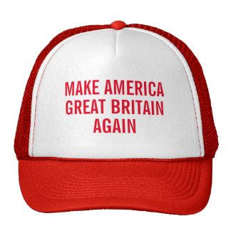 Maak opnieuw Amerika Groot-Brittannië Petten Met Netje