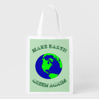 Maak opnieuw tot Aarde de Groene Opnieuw te Herbruikbare Boodschappentas