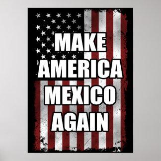 Maak opnieuw tot het Overhemd van Amerika Mexico | Poster