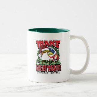 Maak opnieuw tot Kerstmis Grote Troef Eagle Tweekleurige Koffiemok