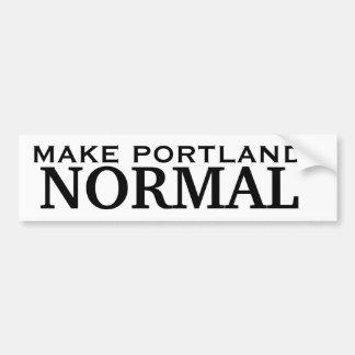 Maak Portland NORMAAL Bumpersticker