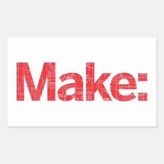 Maak Rechthoekige Sticker