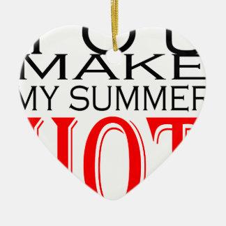 maak tot de zomer hete flirt tienergeheugen hete keramisch hart ornament