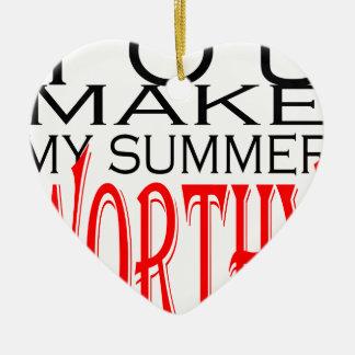 maak tot de zomer waardige flirt tienergeheugen keramisch hart ornament